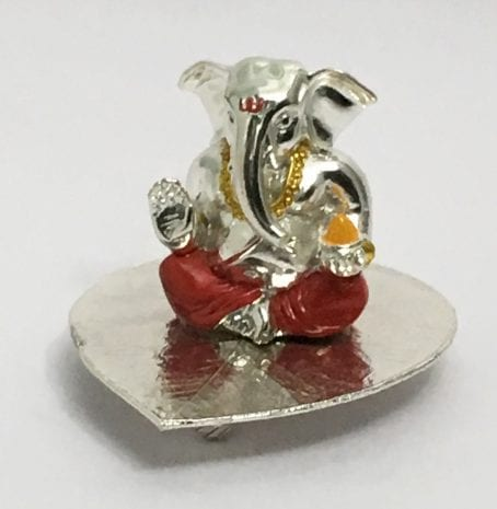 Unique Silver Ganesha Statue – 3.5 inch Height – Resin Silver