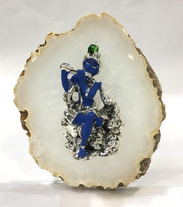 Buy Silver Krishna Idol Online – 4.75 Inch
