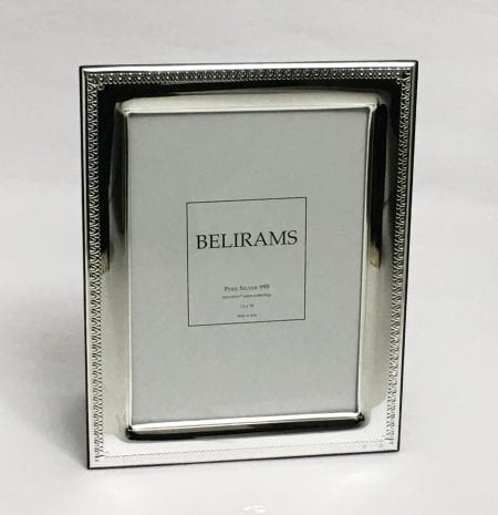 Pure Silver Picture Frame for Wedding Gift, 13×18 cm photo size