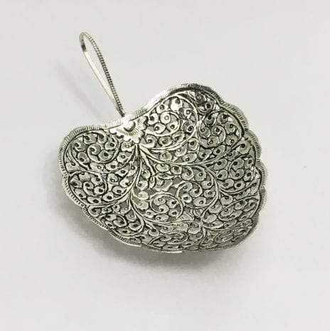 Silver Plated Antique Dish Leaf design – 7.5 inch long