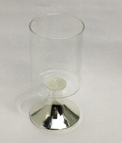 Silver Plated Candle Stand or Tealight Holder – 8.5 inch