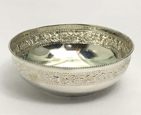 Pure Silver Bowl Gift India – 7 Inch Size