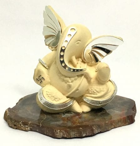 Buy Silver Plated Ganesh Idol Gift Online | 3.5 Inch Height