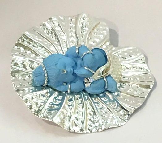 Buy Silver Plated Baby Krishan Artifact – 5.5 Inch Spread