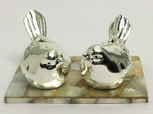 Buy Silver Sparrow Pair Statue Gift