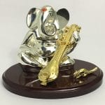 Buy Silver Sitar Ganesh Statue – 5 Inch Height
