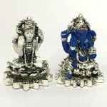 Pure Silver Laxmi Ganesh Statue for Diwali Gift – 2.7 Inch