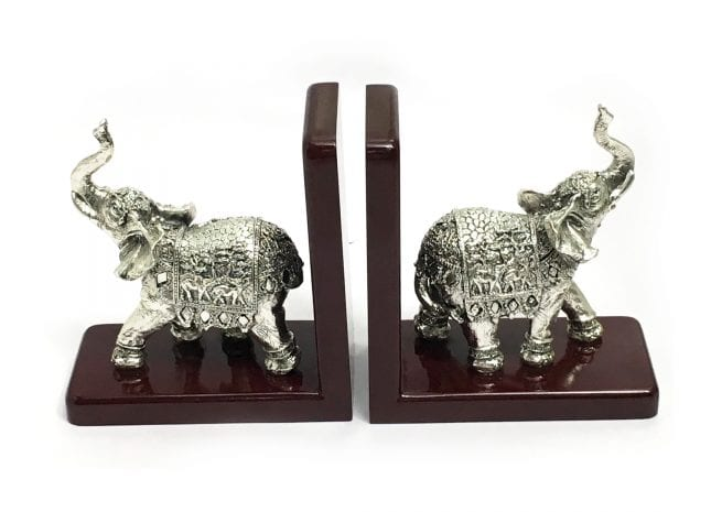 Best Silver Elephant Bookends
