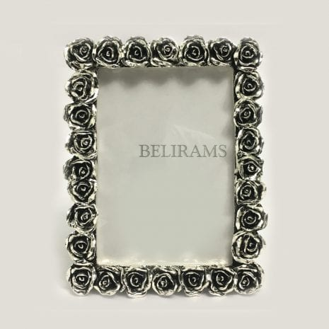 Buy Silver Rose Flower Picture Frame – Medium Size