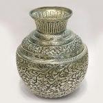 Antique Silver Plated Kalash cum Vase – 10.5 Inch