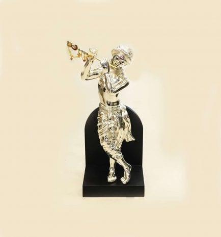 Buy Silver Statue of Krishna   13.5 Inch