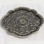 Embossed Silver Plated Large Tray | 18.5″