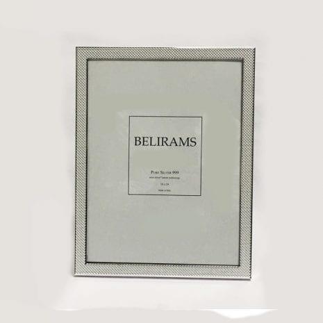 Fine Silver Photo Frame Dot Texture – 18×24 cm photo size