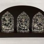 Silver Laxmi Ganesh Saraswati | 7.5 Inch Long