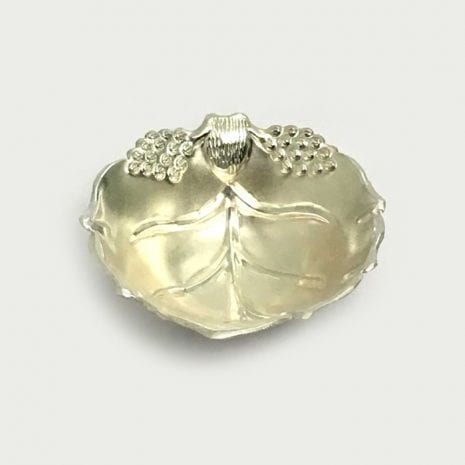 Pure Silver Small Leaf Dish Gift   4.2″