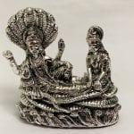 Silver Vishnu with Laxmi resting on Sheshnaag | 8.2″ long