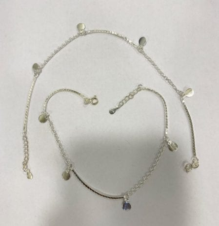 A Fashion Silver Anklet Pair