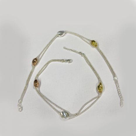 An Artistic Silver Anklet Pair