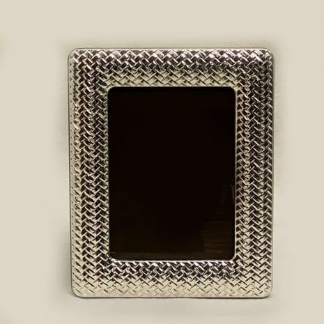 Silver Photo Frame Cross Net Pat.   13×18 cm photo size
